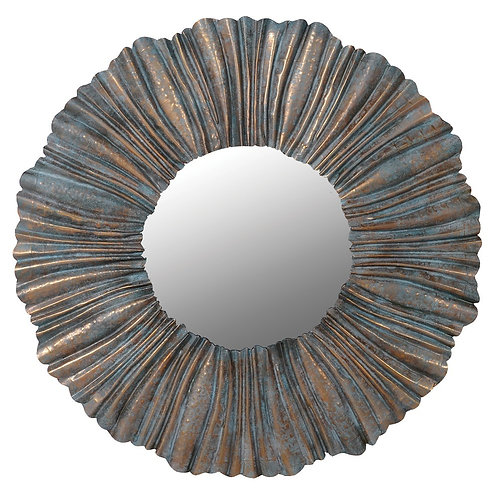 Pleated frame wall mirror