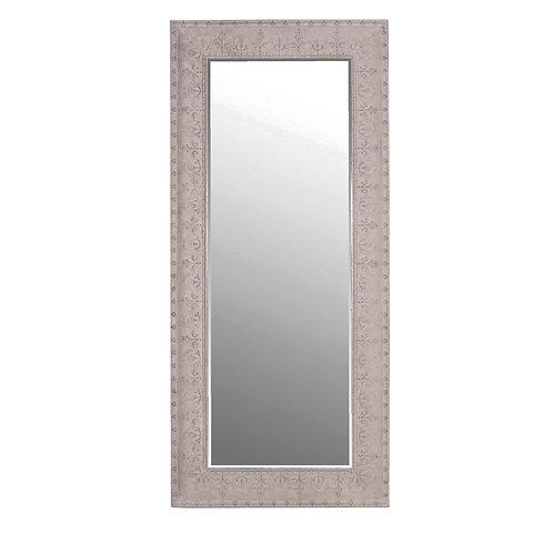 Grey metal embossed mirror
