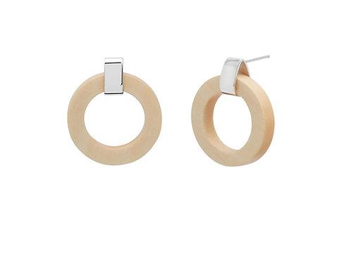 Branch Jewellery White wood ring earrings silver