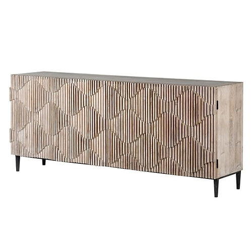 Greywash ripple sideboard