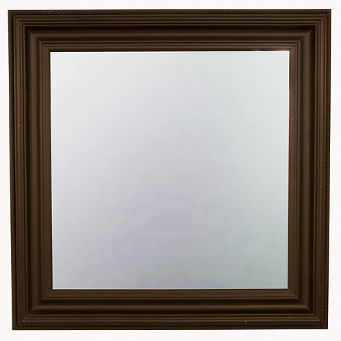 Square beveled black mirror
