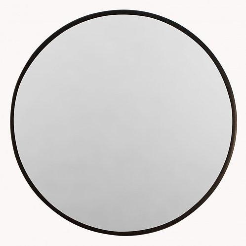 Small round iron mirror