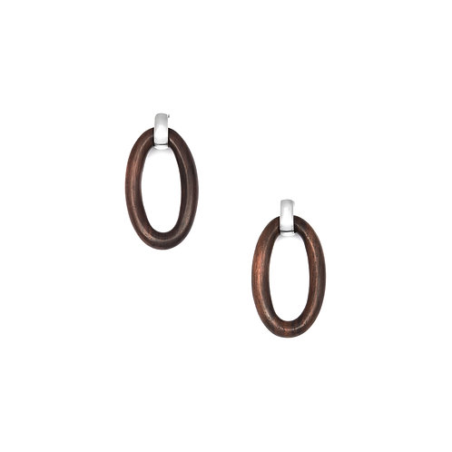 Branch Jewellery Oval rosewood link earring