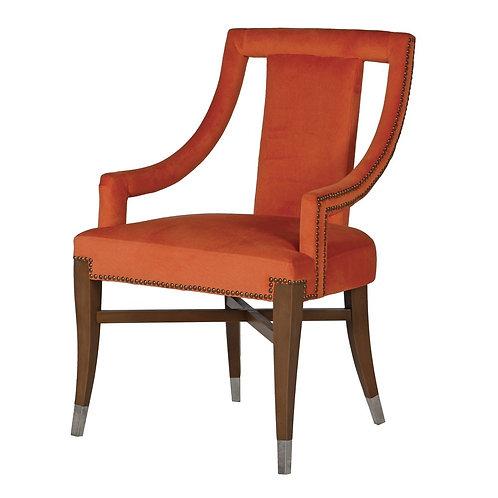Maximilian orange dining chair