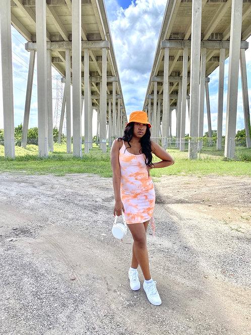Orange TieDye Dress