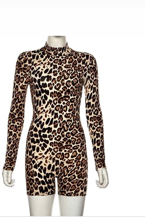 Leopard Long Sleeve UNITARD