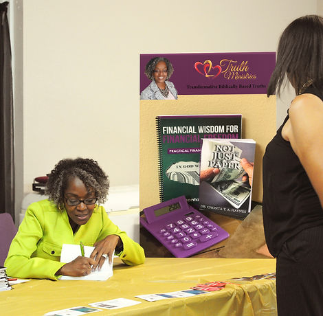 Dr Chonta Haynes - Heart 2 Heart Truth Ministries Book Signings