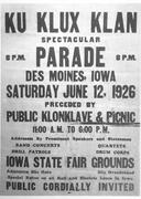 KKK Parade in DSM