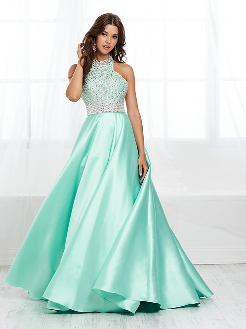 16424 Tiffany Design - Halter Crystal Beaded A-Line Prom Dress