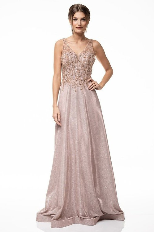 Sequins Beaded Sweetheart Shimmering Mother of the Bride Dress