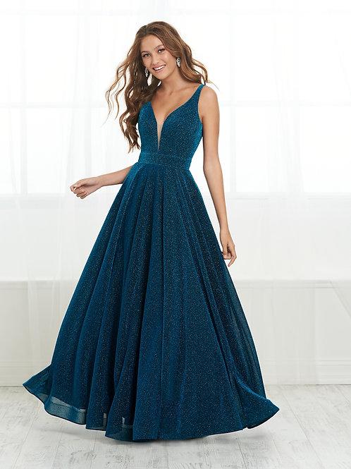 16423 Tiffany Design - A-Line Deep Plunging V-Neck Prom Dress