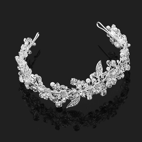Flower Crystal Rhinestone Embellished Headband