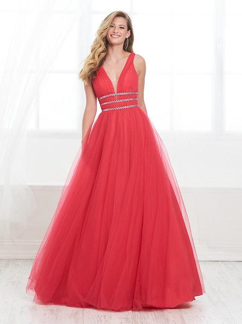 16421 Tiffany Designs - A-Line Rhinestone Wasitband Prom Dress