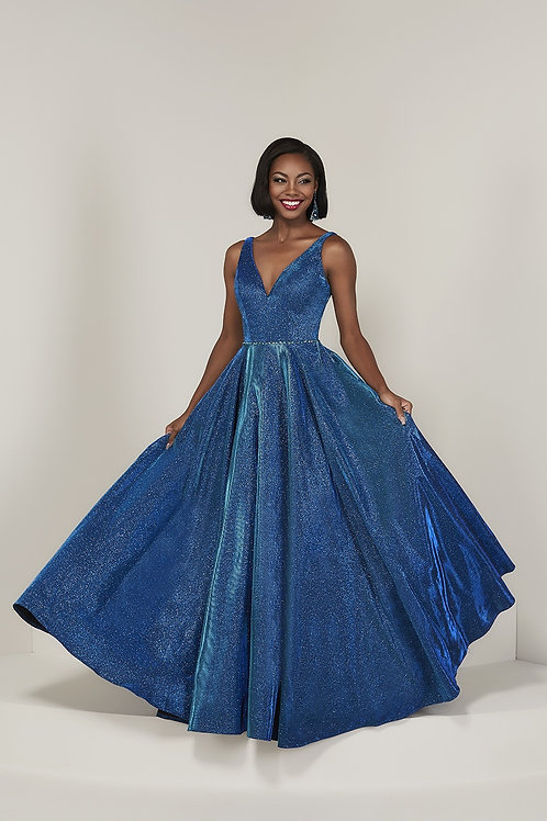 16334 Tiffany - Shimmering Satin A-Line Ball Maid of Honor Gown