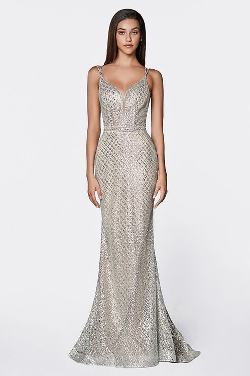 Sequins Patterned Sweetheart Shoulder Strap Mermaid Prom Dress