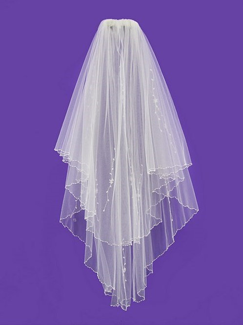 Veil V1011 Embroidery Crystal Beaded