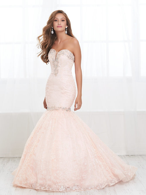 16429 Tiffany Design - Strapless Sweetheart Pleated Fitted Mermaid Gown