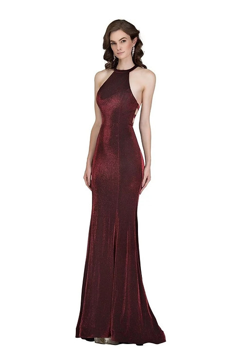 Sexy Stretched Fitted Halter Top Mermaid Prom Dress