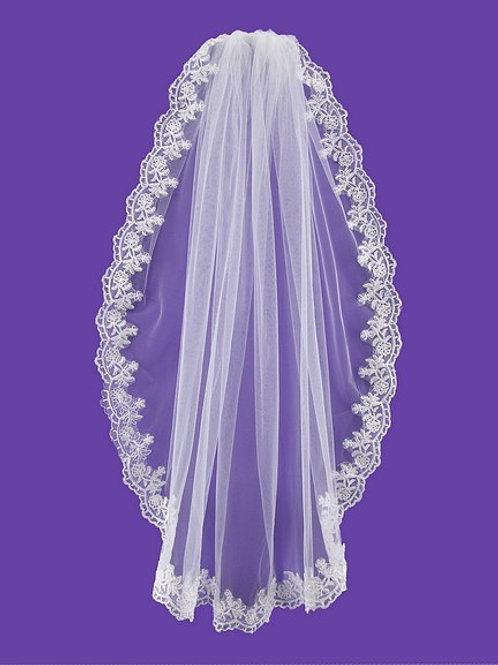Veil V1025 Lace Edge