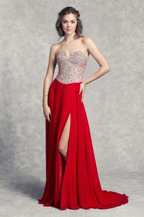 Gorgeous Sweetheart Crystal A-line Jersey Prom Dress