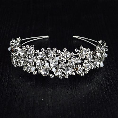 Multi Beaded Crystal  Rhinestone Bridal Headband