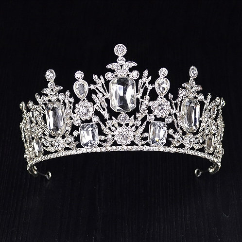 Multi Crystal Rhinestone Head Crown HG0580