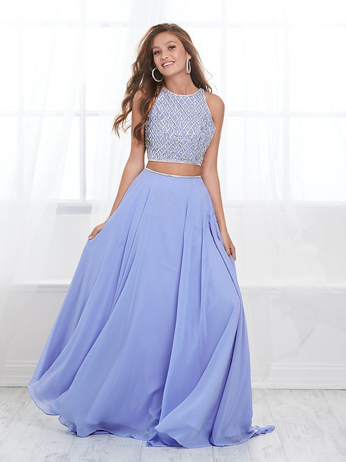 16422 Tiffany Design - 2 Piece Scoop Beaded A-Line Prom Dress