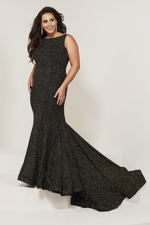 16378 Tiffany - Sleeveless Boat Neckline Sparkling Mermaid Prom Dress