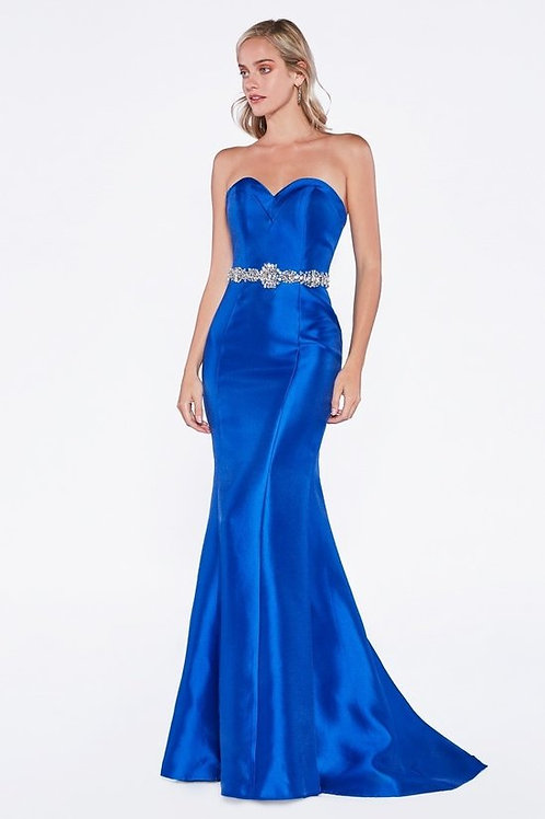 Strapless Sweetheart Neckline Taffetta Mermaid Bridesmaid Dress