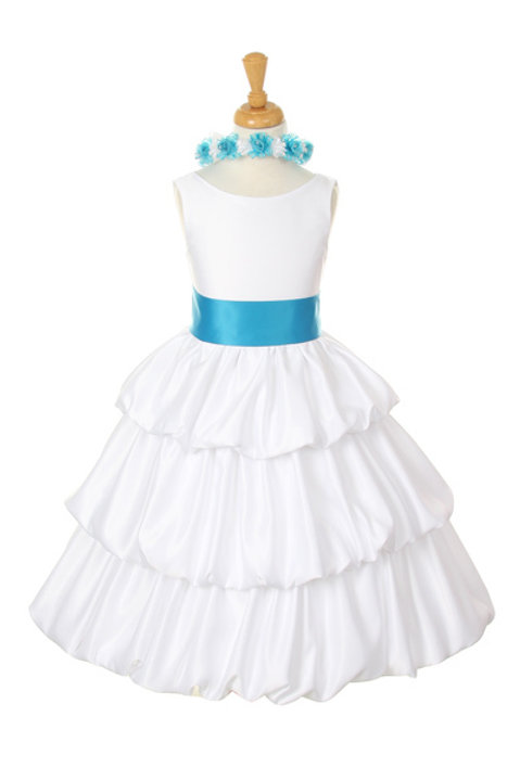Ruffle Puff Designed Stain Communion Dress by Cinderella