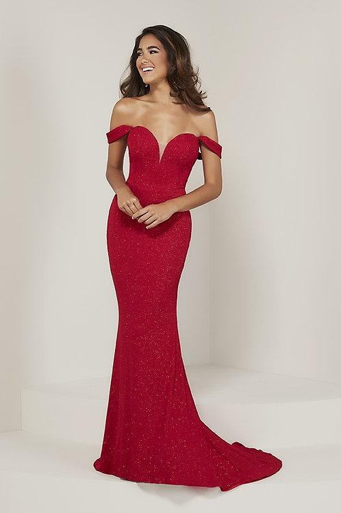 16353 Tiffany - True Sweetheart Off the Shoulder Mermaid Prom Dress
