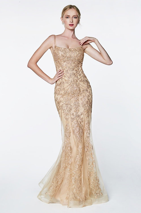 Marvelously Designed Spaghetti Strap w. Gorgeous Lace Mermaid Prom Dress
