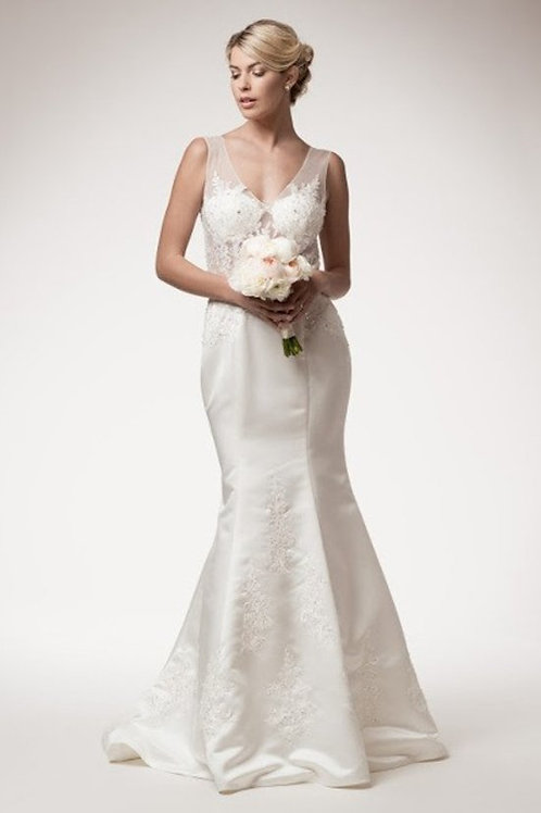 Absolutely Amazing Illusion Lace Mermaid Wedding Gown