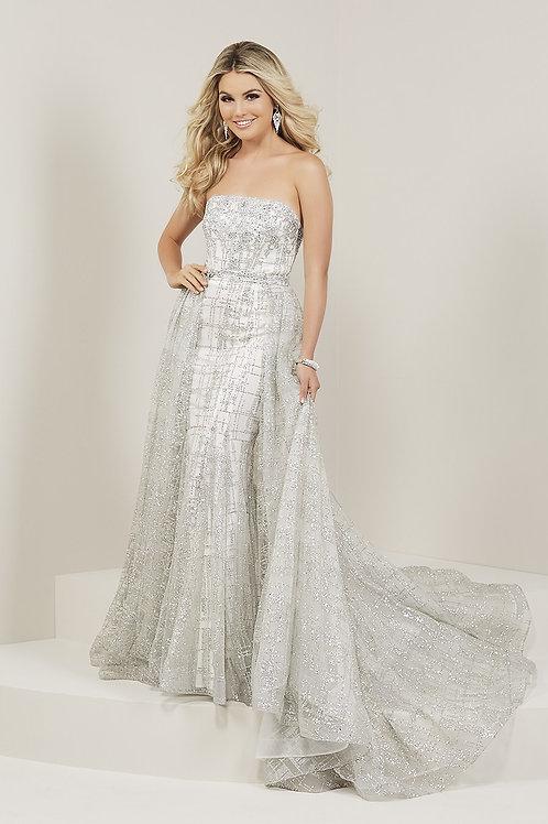16339 Tiffany - Straight Neckline Ice Crystal Tulle Prom Dress