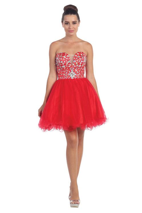 Sweetheart Sparkling Rhinestone Short Prom Dress