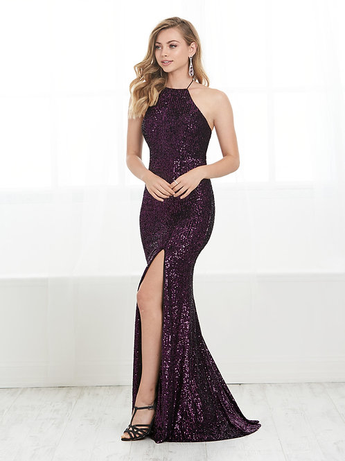 16427 Tiffany Design - Halter Strap Sequins Mermaid Prom Dress