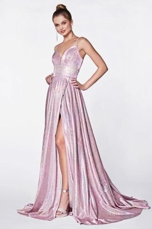 Sexy Spaghetti Strap Split Chiffon Prom Dress