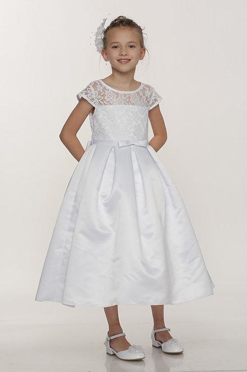 Designer Lace A-Line Communion Dress by Cinderella