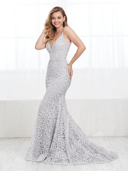 16404 Tiffany Design - Spaghetti Strap Lace Mermaid Prom Dress