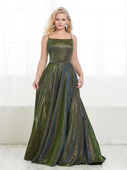 16448 Tiffany - Spaghetti Strap Shimmering Satin Prom Dress