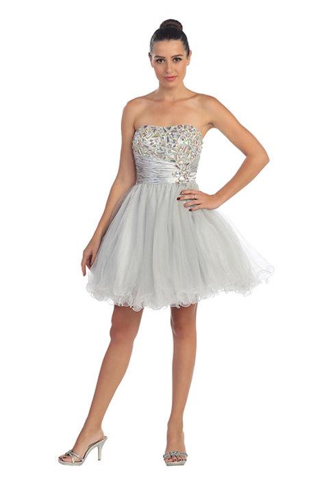 Sweetheart Neckline Sparkling Rhinestone Short Prom Dress