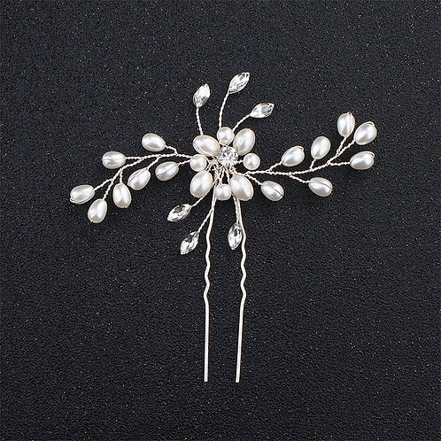 Rhinestone Pearl Designed Bridal Hair Pin