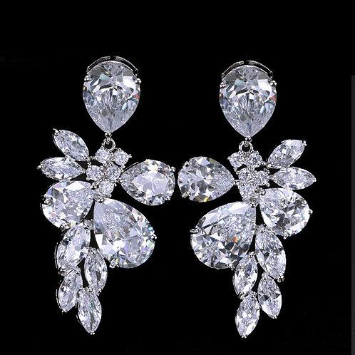 All Cubic Diamond Crystal Earrings