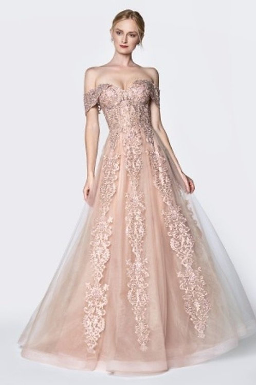 Sweetheart Off the Shoulder All over Lace A-Line Prom Dress