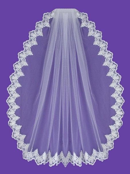 Veil V1073 Lace Edges