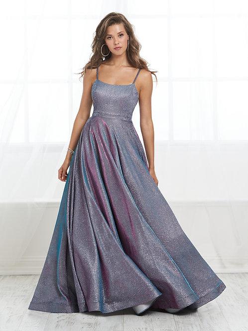 16412 Tiffany Design - Metallic Satin A-Line Prom Dress