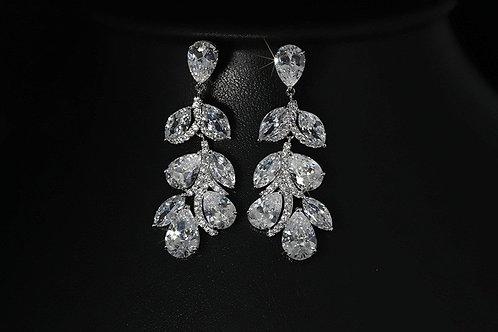 Large Cubic Diamond Crystal Earrings