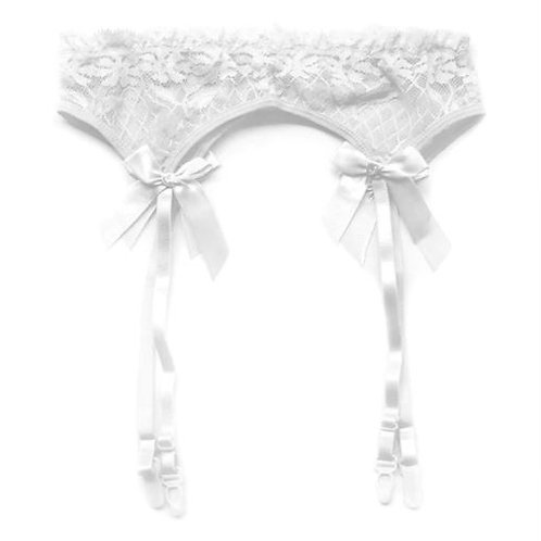 Lace Mesh Lingerie Garter Belt Accented w. Bow GA001B