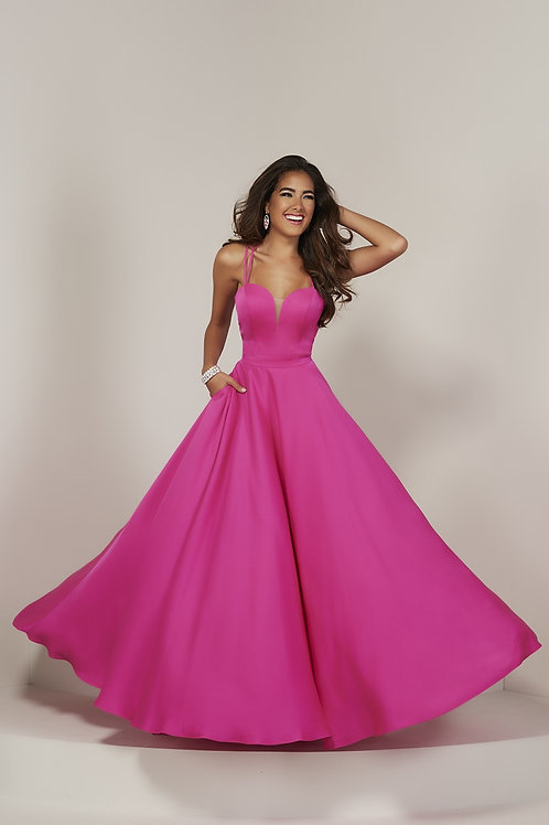 16371 Tiffany - Double Strap Sweetheart A-Line Plain Prom Dress