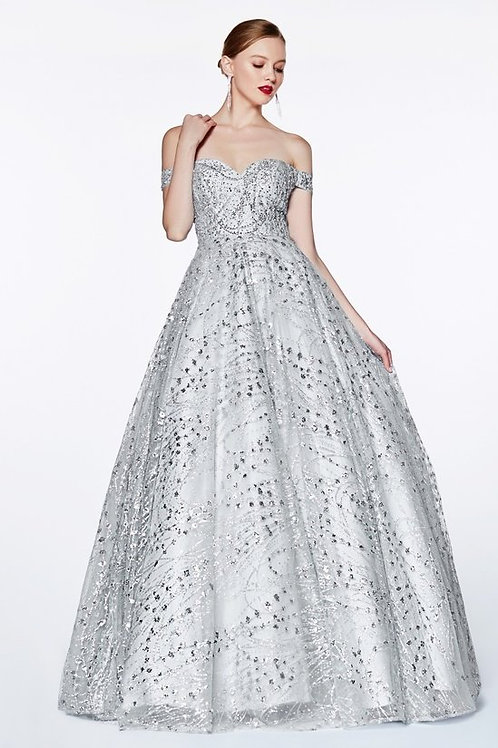 Sweetheart Office the Shoulder Sequins Beaded Prom Dress